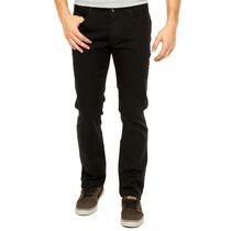 Calça Masculina Jeans Sarja Preta Slim Fit C/ Lycra 36 Ao 46