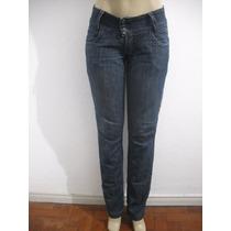 Calça Jeans Feminina Tam 40 Detalhes Tipo Bordado Bom Estado