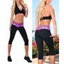 Calça Legging P Preta-rosa De Fitness Academia Gym Corrida