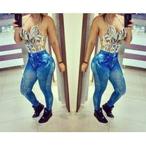 Calça Legging Jeans - Super Fashion | Leg | Denim | Leging