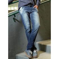 Calça Jeans Com Lycra Masculina Stretch Slin