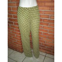 Calça Pantalona Estampa Floral Tamanho G