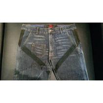 Calça Jeans Flare Feminina Da Ellus Com Detalhes Em Couro