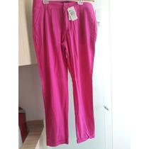 Calça De Linho Pink Marca Hering
