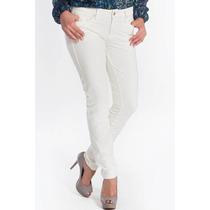 Calça Jeans Feminina Marca Canal Skinny Off White Branca
