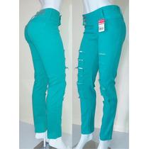 Calça Jeans Coloridas Com Elastano