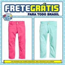 H&m | Calça Jeans Skinny Colorida | Importada | 2à3 3à4 Anos