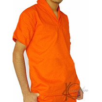Uniforme Conjunto Profissional Brim Calça E Camisa