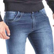 Calça Zip Jeans C/ Lycra Stretch Masculina Slin