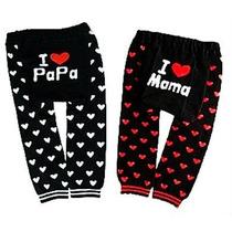 Calças Divertidas Legging Mijão Culote I Love Mama E Papa