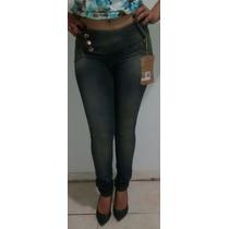 Calça Darlook Jeans Linha Conforto Azul Escuro Tam 36 Ao 44