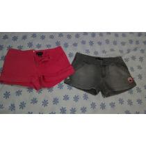 Shorts Ralph Lauren E Roxy Quicksilver Ambos 12 Anos R$100