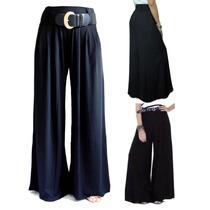 Calça Pantalona C/ Passante De Cinto -gestante - Plus Size