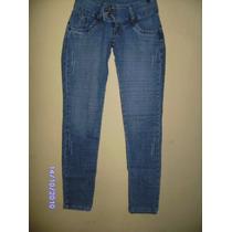 Ca046 - Calça Jeans Com Stretch Manequim 36 Azul