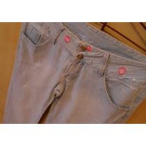 Lindaaaa Calça Jeans Destroyer Butterfly Com Cristais N:40