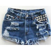 Shorts Jeans Destroyed, Rasgado Detonado Customizado