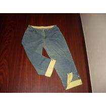 Calça Jeans Pescador 46 Barra Verde Dobrada - Brechochic2012