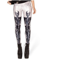 Legging Alternativa Justa Caveira Rock Punk Gym Fitness