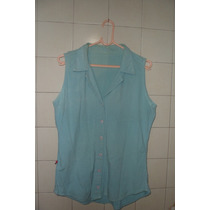 Conjunto Calça E Blusa De Algodão Azul Gg