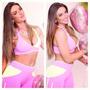 Conjunto Clarabella Calça Com Top Bolsinho Sexy Fitness