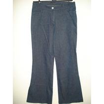 Calça Jeans C/ Boca Larga - C/ Brilho E Elastano Tam P