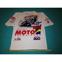 Camiseta Mundial Moto Velocidade Gp Do Rio De Janeiro