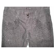 Calça Jeans Da Just Be (renner) C/ Paetes / Elastano Tam 38