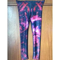 Calça Metalizada Legging Galaxia - Cores Vibrantes!