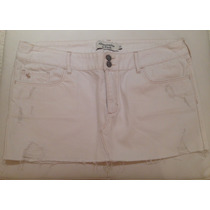 Saia Jeans Branca Abercrombie & Fitch Original Nova! Tam.40
