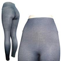 Calça Legging Plus Size Malha Jeans Light