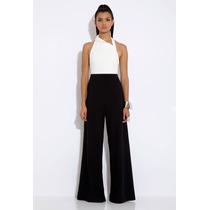 Pantalona P Importada Clássico Elegante Em Chiffon Preto