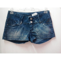 Shorts Jeans Rock Blue Com Strass - Feminino
