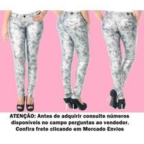 Calça Jeans Legging Resinada Sawary Linda Feminina (234974)