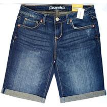 Bermuda Shorts Aéropostale Jeans Denim Lavagem Média