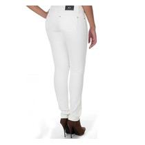 Calça Caution Resinada Jeans Com Lycra Branca
