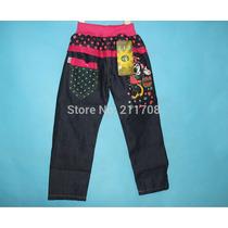 Calça Jeans Criança Feminina Minnie Mouse Importada Elástico