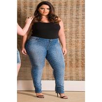 Calça Jeans Tam 44 Ao 54 Moda Plus Size Tamanhos Grande
