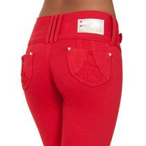 Calça Moletinho Vermelha Skinny Estilo Gang Rio Obsessão 701