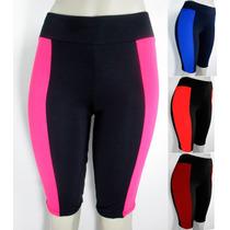 Bermuda Feminina Ciclista Suplex Fitness Plus Size