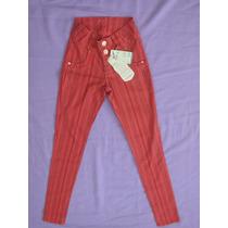 Calça Jeans Estampada Skinny