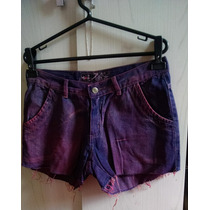 Short Jeans 40 Colorido Roxo Maritom