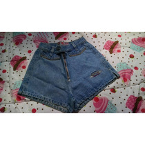 Short Jeans Cintura Alta Retrô Pin Up 34 Marca Ferrary 2001
