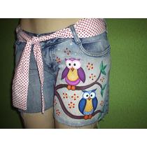 Shorts Jeans Customizados Tamanho 44