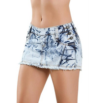Short Saia Jeans Azul Curto - Barato!!!!!