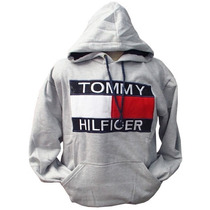 Blusa De Moletom Tommy Hilfiger Cinza Ref Tfy Original