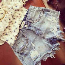 Shorts Jeans Destroyed Customizado Desfiado