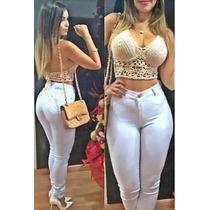 Calça Jeans Sawary Hot Pant Cintura Alta Anita