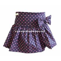 Short Saia Infantil Meninas Tricoline 4 A 6 Anos