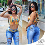 Calça Jeans Feminino Rhero Destoyed Linda Tamanho 44