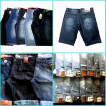 Bermuda Jeans Kit C/ 5 Quiksilver E Outras Marcas